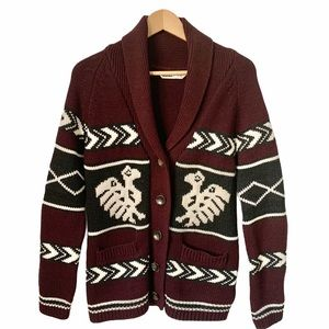 Fair Isle Button Front Sweater